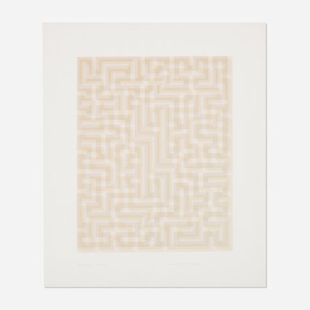 Anni Albers, 'Red Meander II', 1970-71