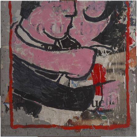 Mimmo Rotella, 'Il bacio al parco', 1993