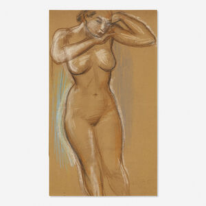 Arthur Beecher Carles, 'Standing Nude (#170 from sketchbook)'