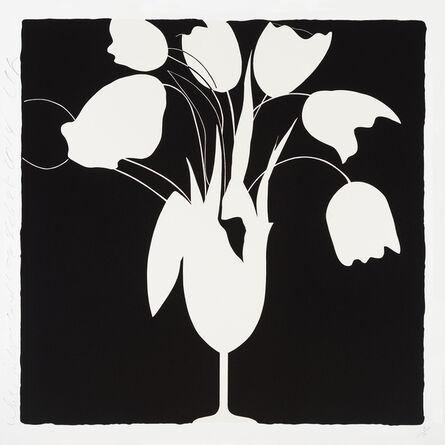 Donald Sultan, 'White Tulips and Vase, Feb 25', 2014