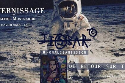 """JISBAR - """"Punk Mona"""" First Painting In Space"""
