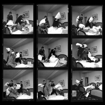 Harry Benson, 'Pillow Fight x 9 - Beatles 40th Anniversary Photograph', 1964