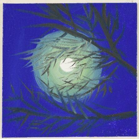 Ann Craven, 'Moon (Blue Moon, Lime Green Light, Cushing, 7-31-15, 11:30PM), 2015', 2015