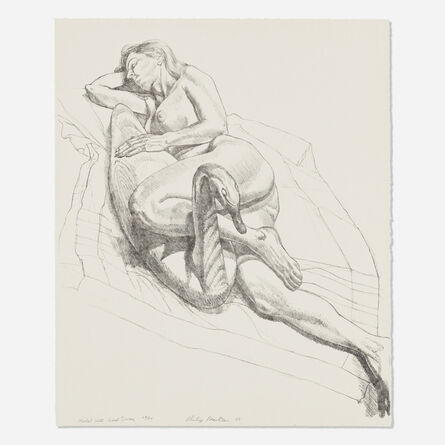 Philip Pearlstein, 'Model with Wood Swan', 1988