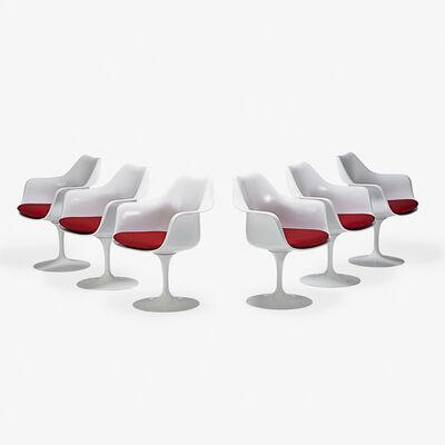 Eero Saarinen, 'Set of six Tulip swivel armchairs, Italy/USA'