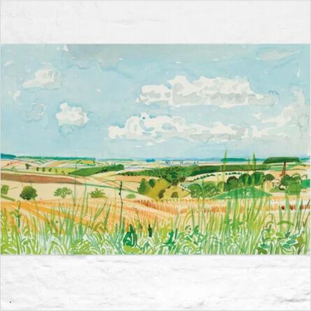 David Hockney, 'Looking Towards Huggate', 2004