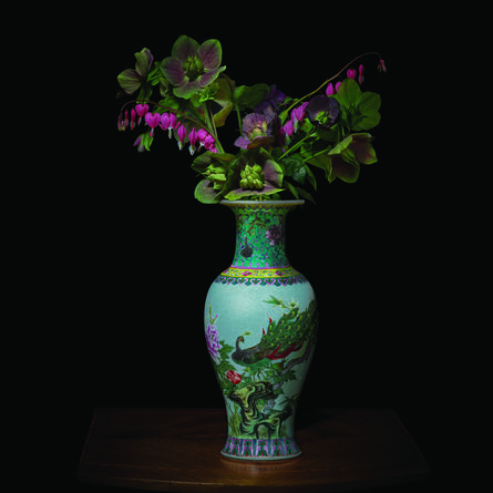 T.M. Glass, 'Hellebores and Bleeding Hearts in a Chinese Vessel', 2018