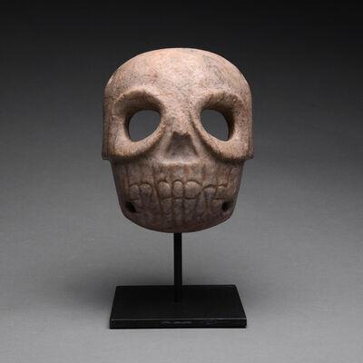 Pre-Columbian, Art of Costa Rica, 'Stone Skull Mask', ca. 1st Century to 5th Century