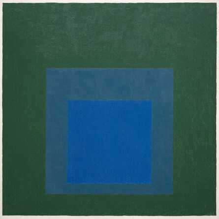 """Josef Albers, 'Study for Homage to the Square: """"Blue Glow""""', 1958"""