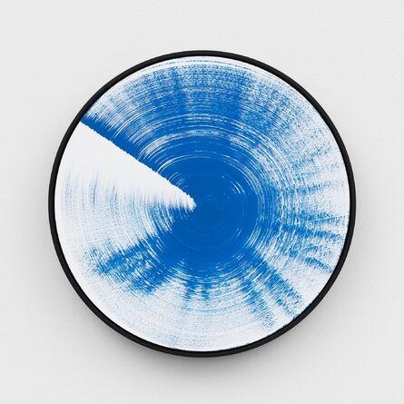 Claudia Comte, 'Turn and Slip 60, cyan', 2017