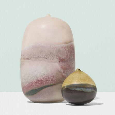 Toshiko Takaezu, 'Vessels, set of two', c. 1960