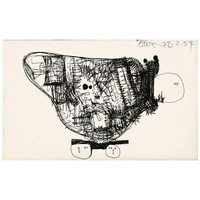 Harold Town, 'The Solid Rock Go-Cart (A Sculpture)', 1954