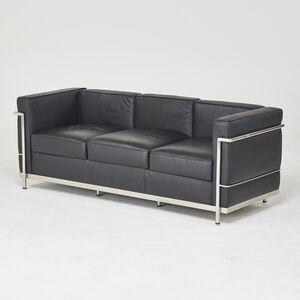 Style of Le Corbusier, 'Le Petit Confort-style three seat sofa', 2000s