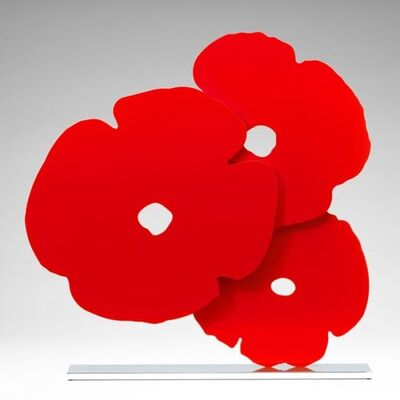 Donald Sultan, 'Red Poppies', 2015