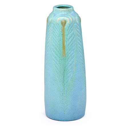 Van Briggle, 'Early peacock feather vase, Colorado Springs, CO', 1904