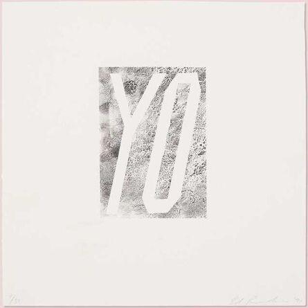 Ed Ruscha, 'Yo', 1991