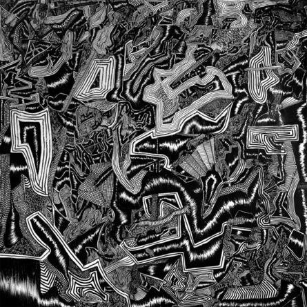 David Paul Kay, ' Geometric Abstract Black and White Painting: 'Revelation'', 2020