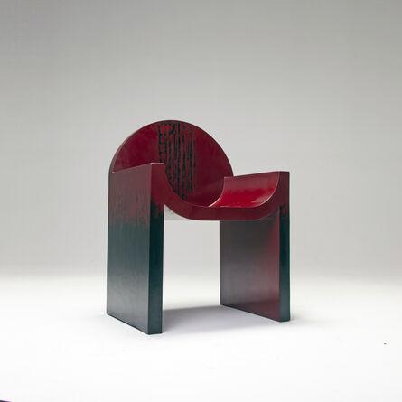 Naihan Li, 'Lacquer Chair #1 in Burgundy'