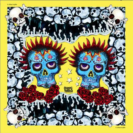 Chloe Trujillo, 'Skulls (Yellow)'