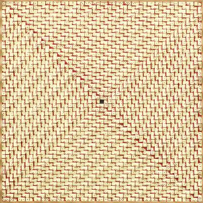 José Patrício, 'Superfície ondulada em vermelho /Wavy surface in red', 2011