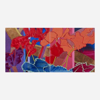 Robert Kushner, 'Red Cyclamen (diptych)', 2000