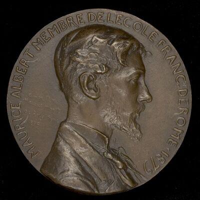 Louis-Oscar Roty, 'Maurice Albert, 1854-1907', 1879