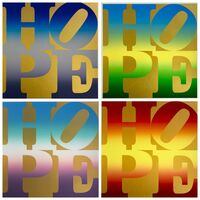 Robert Indiana, 'Four Seasons of HOPE, Gold Portfolio', 2012