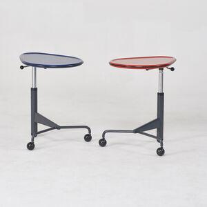 """Toshiyuki Kita, 'Pair of """"Kick"""" adjustable side tables', 1980s"""