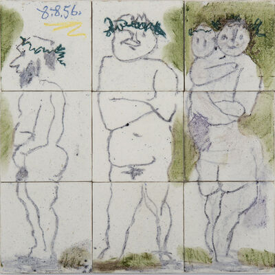 Pablo Picasso, 'Famille, têtes laurées : Quatre personnages', 1956