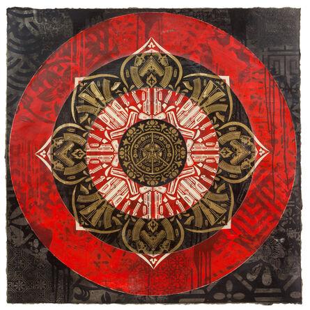 Shepard Fairey, 'Gun Mandala Target (Black)', 2018