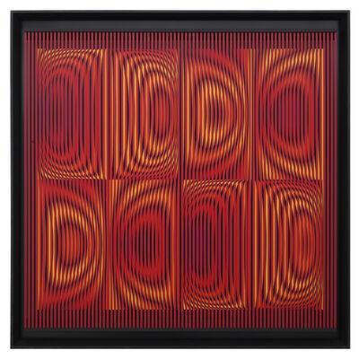 Alberto Biasi, 'Straocio colorato', 2001