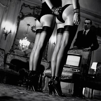 Helmut Newton, 'Two Pair of Legs In Black Stockings, Paris 1979', 1979
