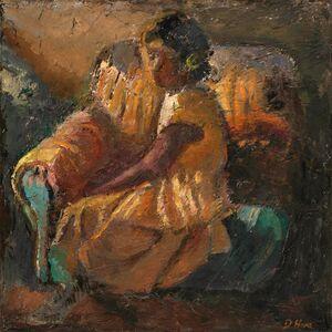 Dennis Hare, 'Girl In A Golden Dress', 2014