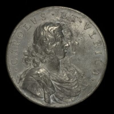 Arvid Karlsteen, 'Charles XI, 1655-1697, King of Sweden 1660, and Ulrica Leonora of Denmark, d. 1693, Queen of Sweden 1680 [obverse]', 1680