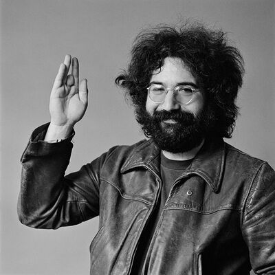 Baron Wolman, 'Jerry Garcia waving', 1969