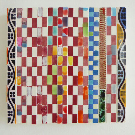Susan Tunick, 'Red/Blue Checker', 2016-2018