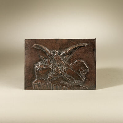Antoine-Louis Barye, 'Eagle and Ibex Plaque', ca. 1824
