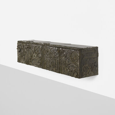 Paul Evans (1931-1987), 'wall-mounted Sculpted Bronze cabinet', 1973