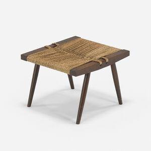 George Nakashima, 'Grass-Seated stool', c. 1965
