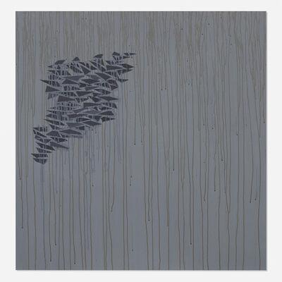 Robert Goodnough, 'Black Shapes on Gray', 1976