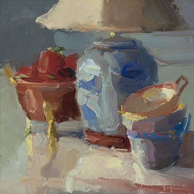 Christine Lafuente, 'Strawberries, Lamp and Teacups', 2020