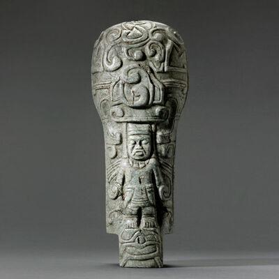 Unknown Pre-Columbian, 'Mayan Jade Palma', 300 AD to 900 AD