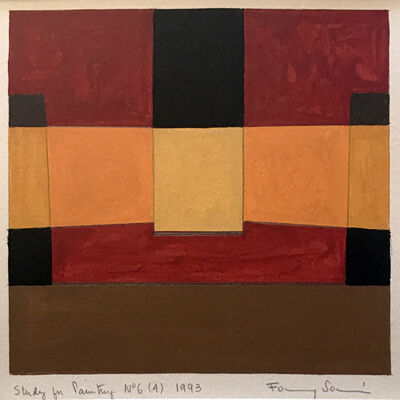 Fanny Sanin, 'Study for a Painting No. 6 (4)', 1993
