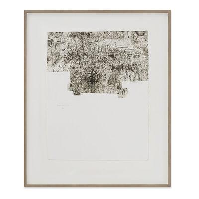 """Eduardo Chillida, 'Yves Bonnefoy: """"Une Hélène de Vent ou de Fumée"""" II  ', 1990"""