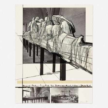 Christo, 'Wrapped Statues (Project for Der Glyptotek in Munich Aegean Temple)', 1988