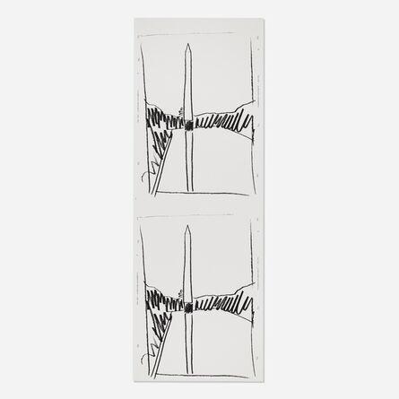 Andy Warhol, 'Washington Monument (uncut sheet of two)', 1974