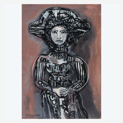 René Portocarrero, 'Figura Sedente en Rosa y Gris', 1975