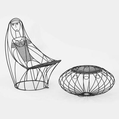 John Risley, 'Lounge Chair and Ottoman', 1960's