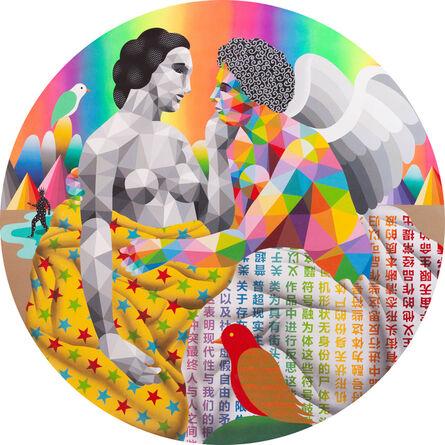 Okuda San Miguel, 'Angels Love', 2021