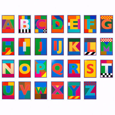 Peter Blake, 'Dazzle Alphabet Box Set', 2017